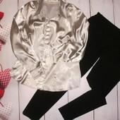 Брюки штаны Yessica классика, р. М и атласная блуза! смотрятся отлично