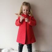 Яркое кашемировое пальто 110см