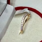 Новинка!Кольцо на фалангу пальца,р.13позолота ,мед