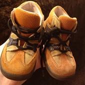 Ботиночки суперфит,23 размер, замш снаружи,внутри кожа