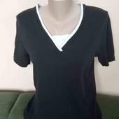 Фірменна чорна футболка, стан нової , 10% знижка на УП