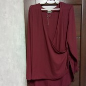 Фирменная новая красивая блуза с удлиненной спинкой р.22-24