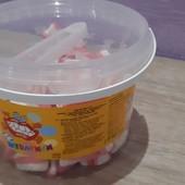 Вкусные желейные зубы. Вкус детства) 200 шт . Банка