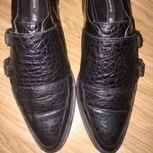 Чёрные закрытые туфли из натуральной кожи H&M