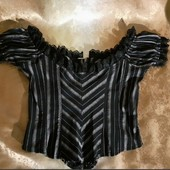 Корсет блуза нового стану Ідеально підкреслює фігуру. .42р.на бірці.