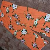 Quiz uk16 яркие шифоновые брюки палаццо