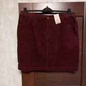 Фирменная новая красивая коттоновая юбка р.16.