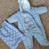 Для новорожденных Комбинезон + плед/одеяло 0-5мес.!!!!