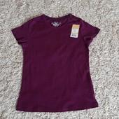 Котонова однотонна футболка. Розмір 134/140