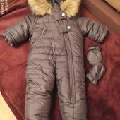 очень теплый классный зимний комбинезон  на мальчика .новый