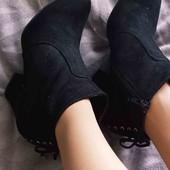 стильные замшевые ботинки Graceland pp39(24.5)