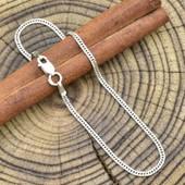 Срібний браслет з родуванням панцирний