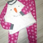Пижама флис 7-8лет замеры на фото