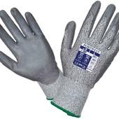 Очень качественные рабочие перчатки от порезов с полиуретановым покрытием ладони