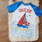 Хлопковая футболка little kids, 122-128,в идеале, много лотов