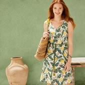 Классное льняное платье Esmara Германия размер евро 34