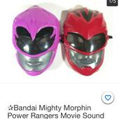 Озвученная маска Bandai Toys красного рейнджера из фильма «Могучие рейнджеры»!!!!Оригинал!!!