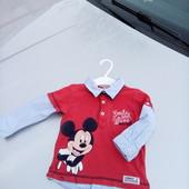 Стоп!!фирменный удобный яркий натуральный реглан от Disney