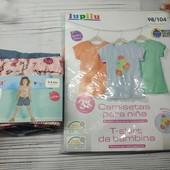Набор яркой летней одежды для девочки от Lupilu, р 98-104