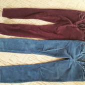 Вельветовые джинсы 2 шт, размер Xs,