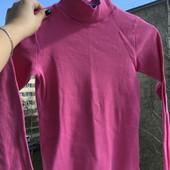 Розовый гольфик в рубчик