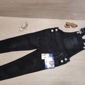 Германия!!! Крутой джинсовый комбинезон для девочки! 98 рост!