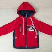 2 в 1 Демисезонная куртка-жилетка для мальчиков 104, 110