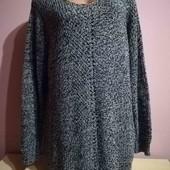 Удлиненный меланжевый свитер-туника от Yours. Батал. Пог 65см.Р. 20.