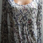 Мягенькая блузочка - обманка на запАх,100% вискоза, Пог49, сост. идеальное