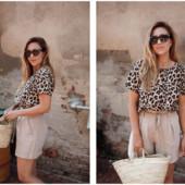 Esmara Германия Тонкая дизайнерская футболка блузка 36р евро