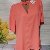 Шикарная шифоновая блуза секонд люкс с биркой размер 48