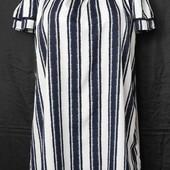 Свободное лёгкое платье с открытыми плечами,m/L