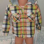 Рубашка с капюшоном на 2-3года