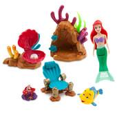 Красочный игровой набор русалочка - ариэль себастьян рыбка флаундер
