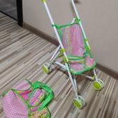 коляска как новая, металлический каркас