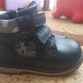 Кожаные детские ботинки 24 размер