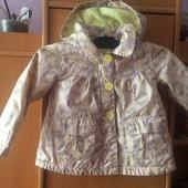Куртка, непромокайка, внутри флис, р. 18-24 месяцев 86-92 см. TU. сост.отличное
