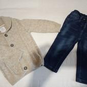 Комплект джинсы и кардиган Next 9-12 мес р.80
