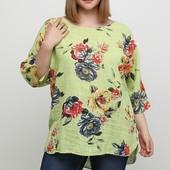 Салатовая летняя блуза Made in Italy