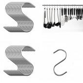 S-образные крючки для рейлинга\железные крючки для вешалки в форме буквы С