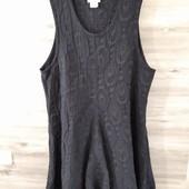 Фактурное интересное платье .Черное XL Shes Crazy