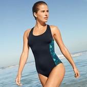 Спортивный купальник, монокини с яркими вставками tcm tchibo, германия размер 36 евро=42-44