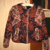 Тепла курточка-бомбер роз.38