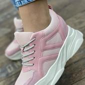 Новые розовые женские кроссовки 36-40
