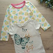 Реглан и футболочка для девочки 2-5 лет.
