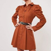 Платье рубашка с объемными рукавами Missguided (р.S)