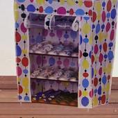 Тканевый шкаф, полка для обуви и вещей, органайзер кофра шкаф для обуви Shoe Rack 4 полки