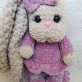 Еко іграшка плюшева зайка