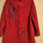 Коллекционное флисовое пальто, на королевские формы! р.64-70!!