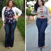 На шикарные формы! Шикарные плотненькие стрейчевые джинсы р.22 Акция читайте
